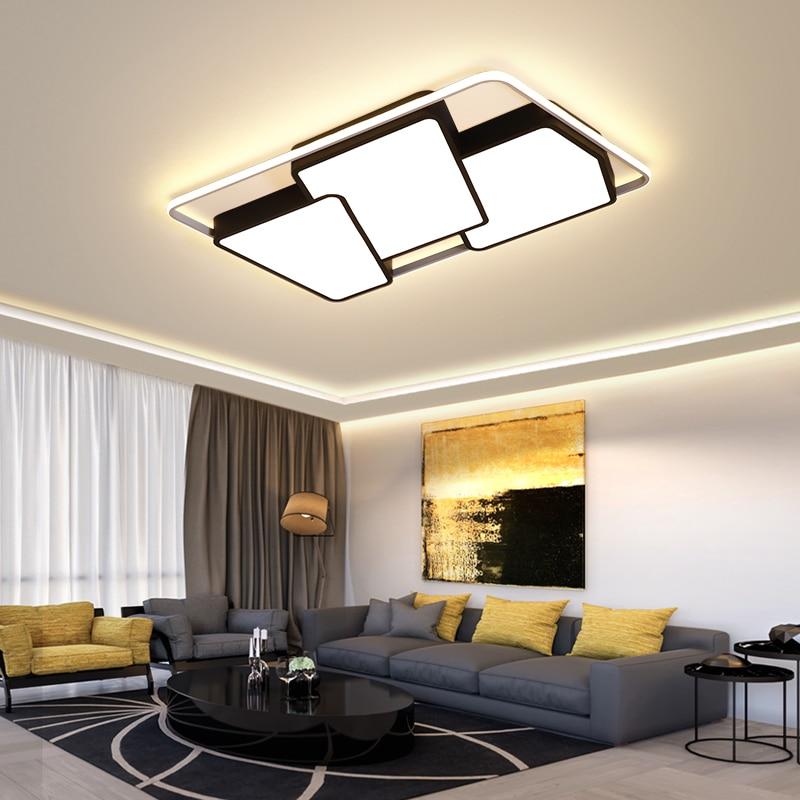 Black/White Led Chandelier Ceiling For Living Room Lights