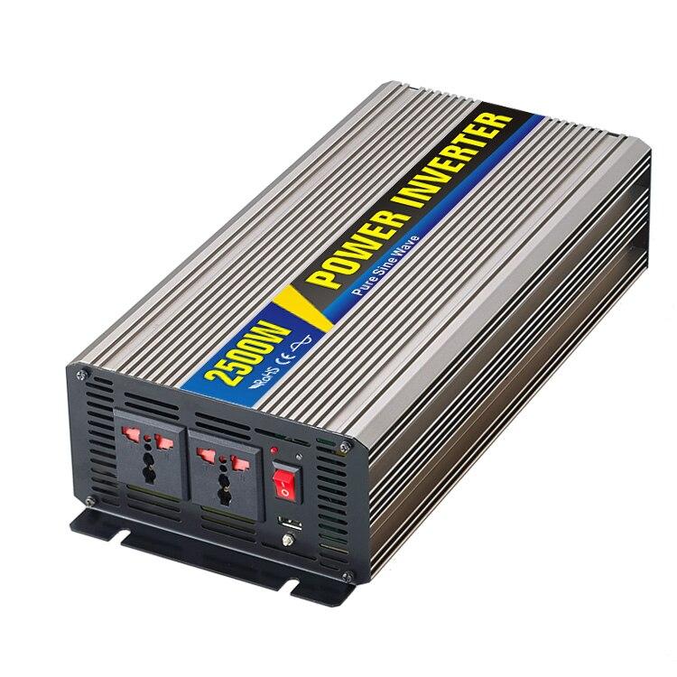 Good Quality 1pcs 24V Inverter 220V 2500W Pure Sine Wave Power Inverter with Remote Controller Off Grid Inverter