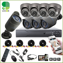 8pcs full 1080P 2.0MP AHD camera  8CH surveillance System AHD DVR KIT CCTV video recorder home security system