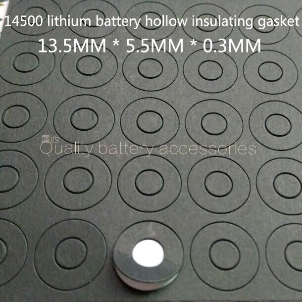 100 PCS 14500 bateria de lítio cátodo oco cabeça afiada isolante mat superfície almofada méson 5 pólo positivo da bateria pad rosto