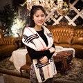 Новый женская Мода Подлинная Норки Трикотажные Вечер Патри Шарфы Шарфы Платки Обертывания
