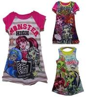New Brand Monster Ella Princess Dress Children Dress Clothing for Girls High Monster Dress Cartoon Girls Clothes Casual Cloth