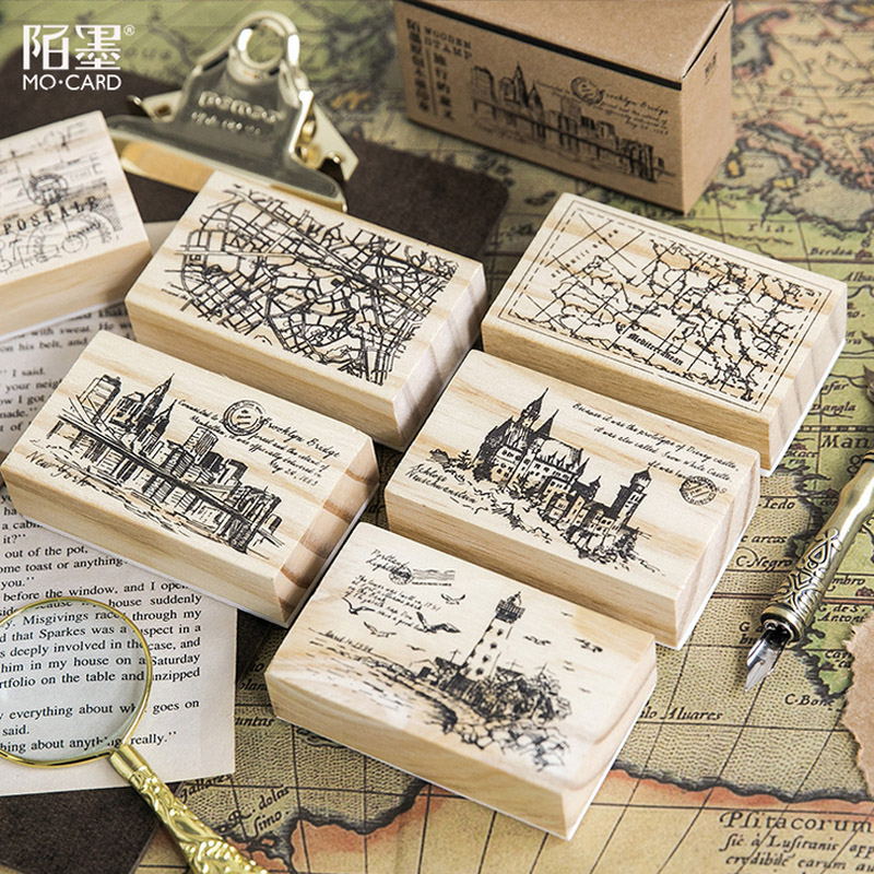 Vintage city map wood stamp DIY wooden rubber stamps for scrapbooking stationery scrapbooking standard stamp budapest city map