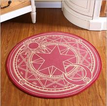 Children Cartoon Sakura carpet Door Floor Mat Cute magic Bedroom computer chair basket mats