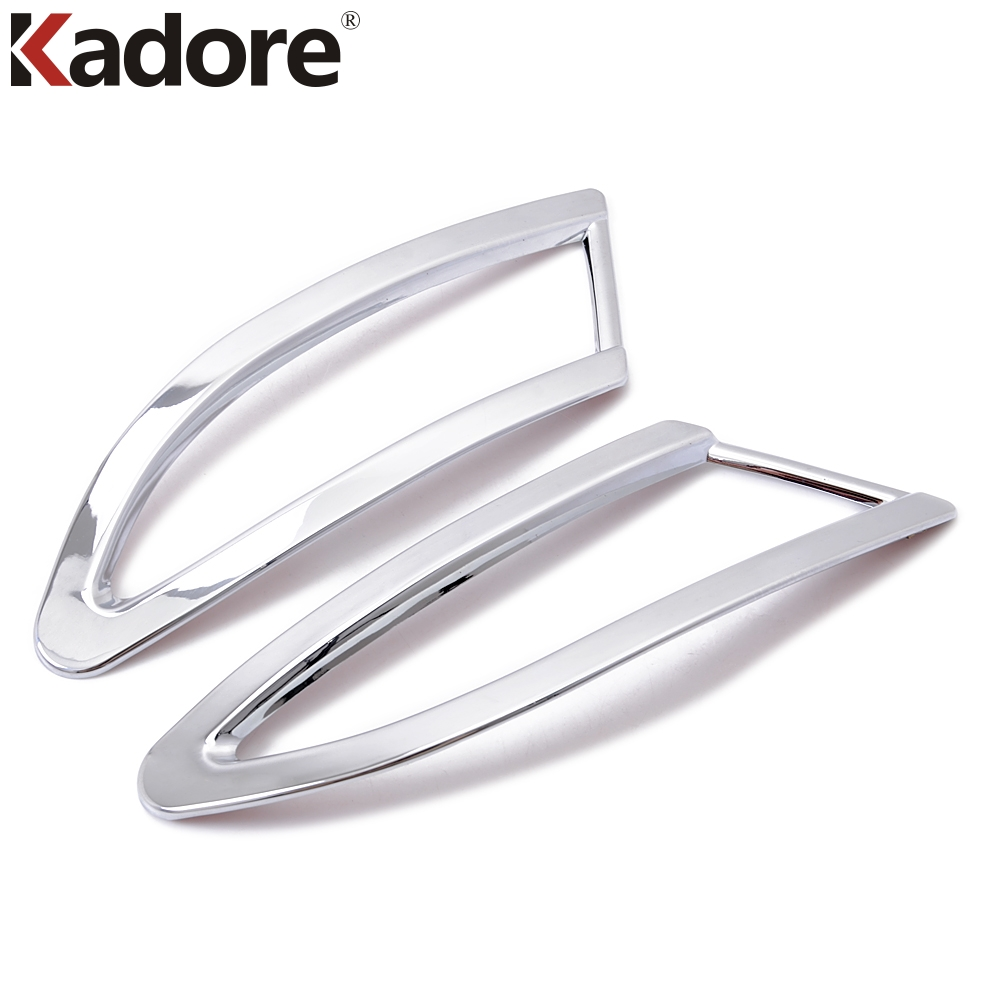 For Ford Focus 3 2012-2015 Sedan 4 Doors ABS Chrome Tail Fog Light Lamp Cover Rear Fog Light Shade Decoration Trim 2pcs/set