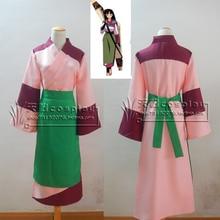 ¡ Venta caliente! inuyasha sango kimono cosplay uniforme disfraces de halloween disfraces de carnaval mujer dress envío gratis