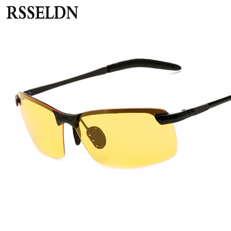 RSSELDN Polarized Sunglasses Men Car Driving Glasses Anti-glare Driver Sun Glasses Men O ...