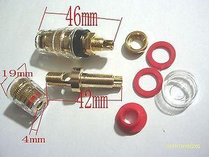 Poste de liaison haute qualité 4 pièces | Pour haut-parleur amplificateur prises banane 4mm