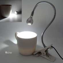 настольная лампа USB Charging LED Desk Lamp DC 5V 1W  Black Silver Soft Brightness Flexible Clip Table Light eichholtz настольная лампа table lamp caruso