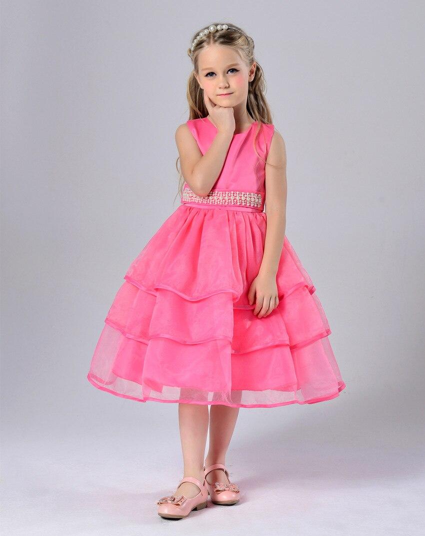 ღ Ƹ̵̡Ӝ̵̨̄Ʒ ღ2016 New Girls Wedding Dress Hot Pink Children ...