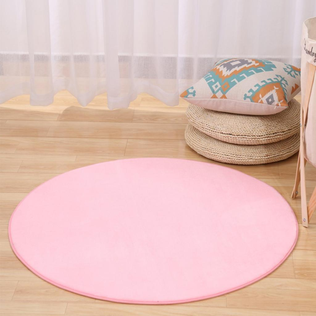 Kids Indoor Castle Tent Round Carpet Floor Activity Plush Cushion Pink 100cm