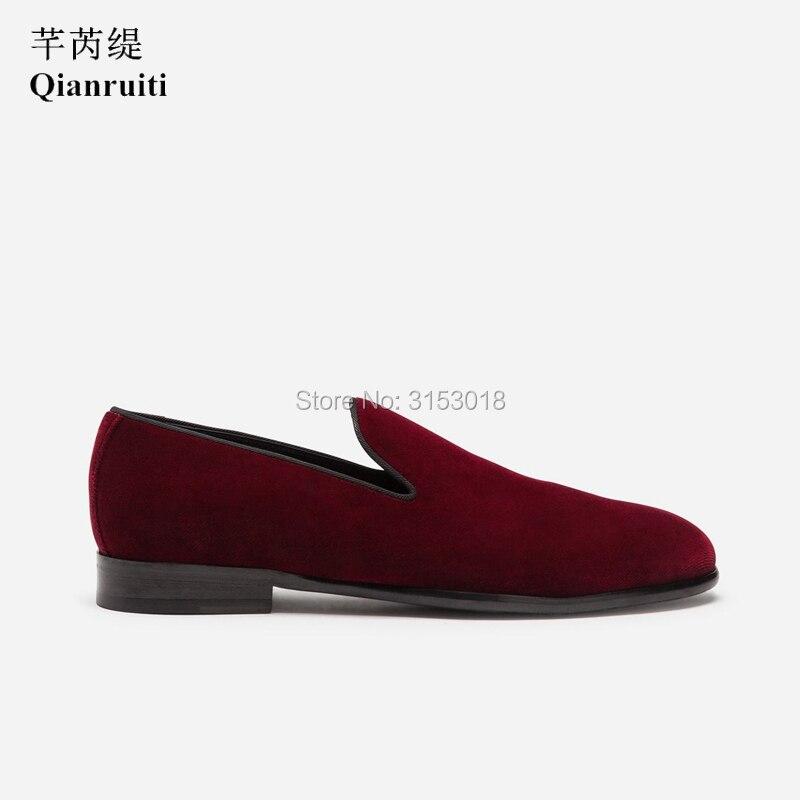 Классическая мужская повседневная обувь из бархата ручной работы; деловая модельная обувь без застежки; сезон весна; 2019; обувь для улицы; подарок