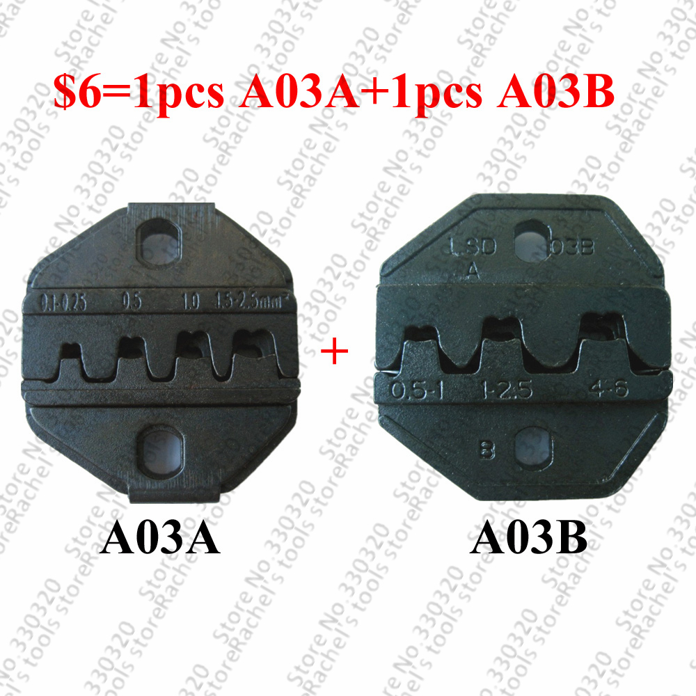 A03A And A03B Crimping Dies Set For Open Barrel Terminals