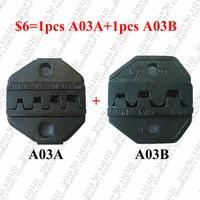 Juego de troqueles de engaste A03A y A03B para terminales de barril abierto|Alicates| |  -