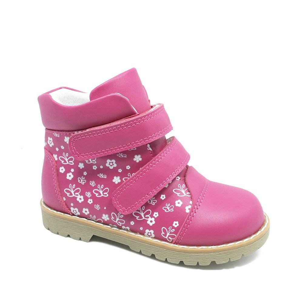 Mode printemps automne enfants décontracté chaussures orthopédiques enfants papillon impression chaussures en cuir filles bambin chaussures de sport - 2
