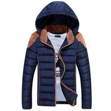 Зима куртка хлопок пуховик капюшон, зима XXXL зима куртки мужчины молния мужская зима пальто