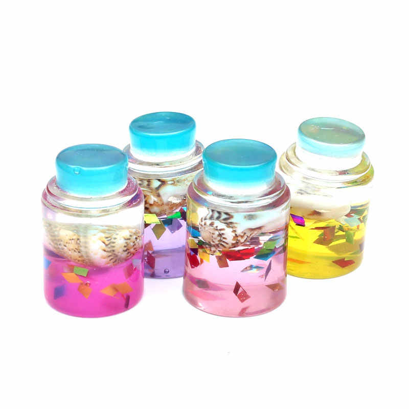10Pcs Colorful Drift Bottle Resin Decoration Craft Flatback Cabochon Embellishments For Scrapbooking Kawaii Cute Diy Accessories