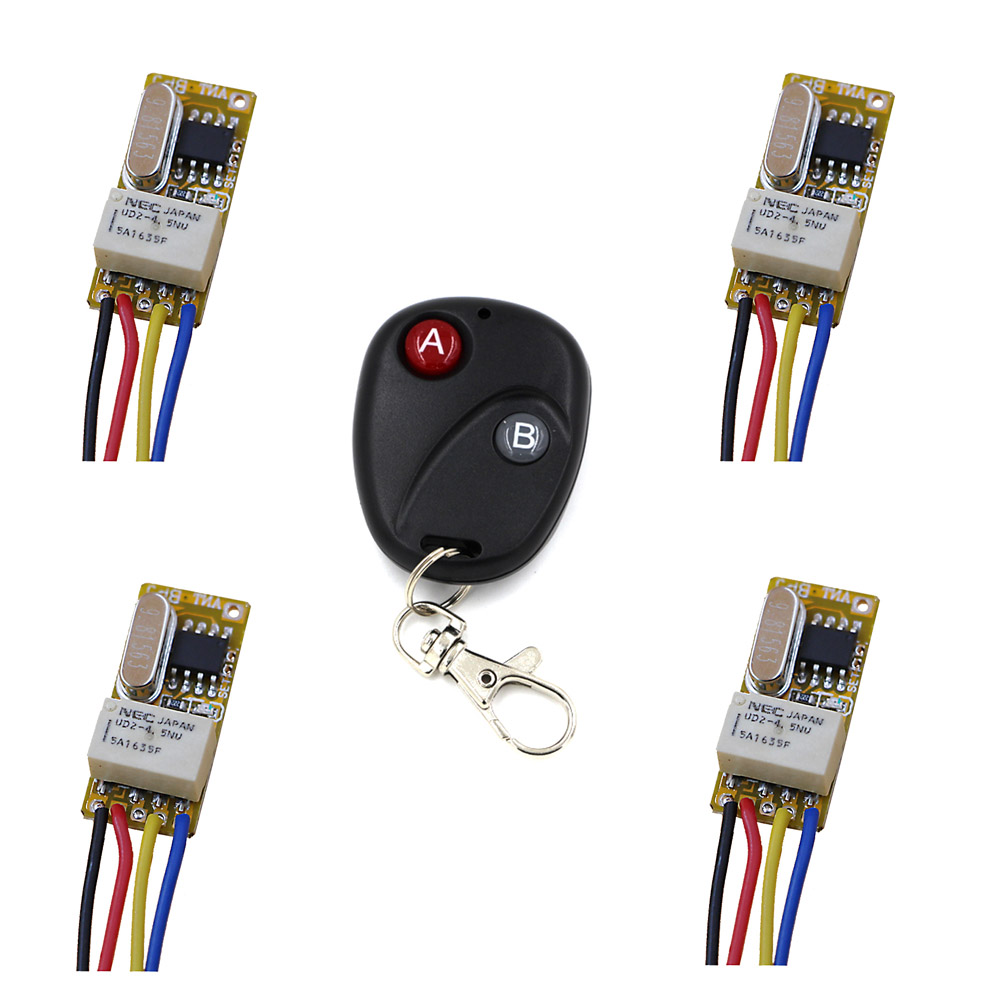Access Control System Wireless Remote Control Switch Connect to Open Button DC 3.7V 4.5V 5V 6V 9V 12V Mini Micro Wireless Relay 2 receivers 60 buzzers wireless restaurant buzzer caller table call calling button waiter pager system