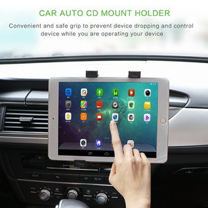 Image 5 - 7 Universal 8 9 10 11 Polegada Titular Tablet PC Carro CD Auto Carro Montar Titular Tablet PC Suporte para IPad 2 3 4 5 Ar para Galaxy Tab