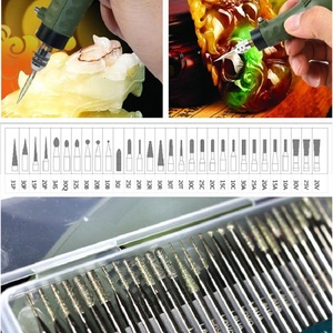 Image 2 - LAOA 30PCS Diamant Schleifen Stangen Korund Schleif Stangen Jade Glas Gravur Kopf Polieren Nadel Für Bohrer Werkzeug Hand Werkzeug set