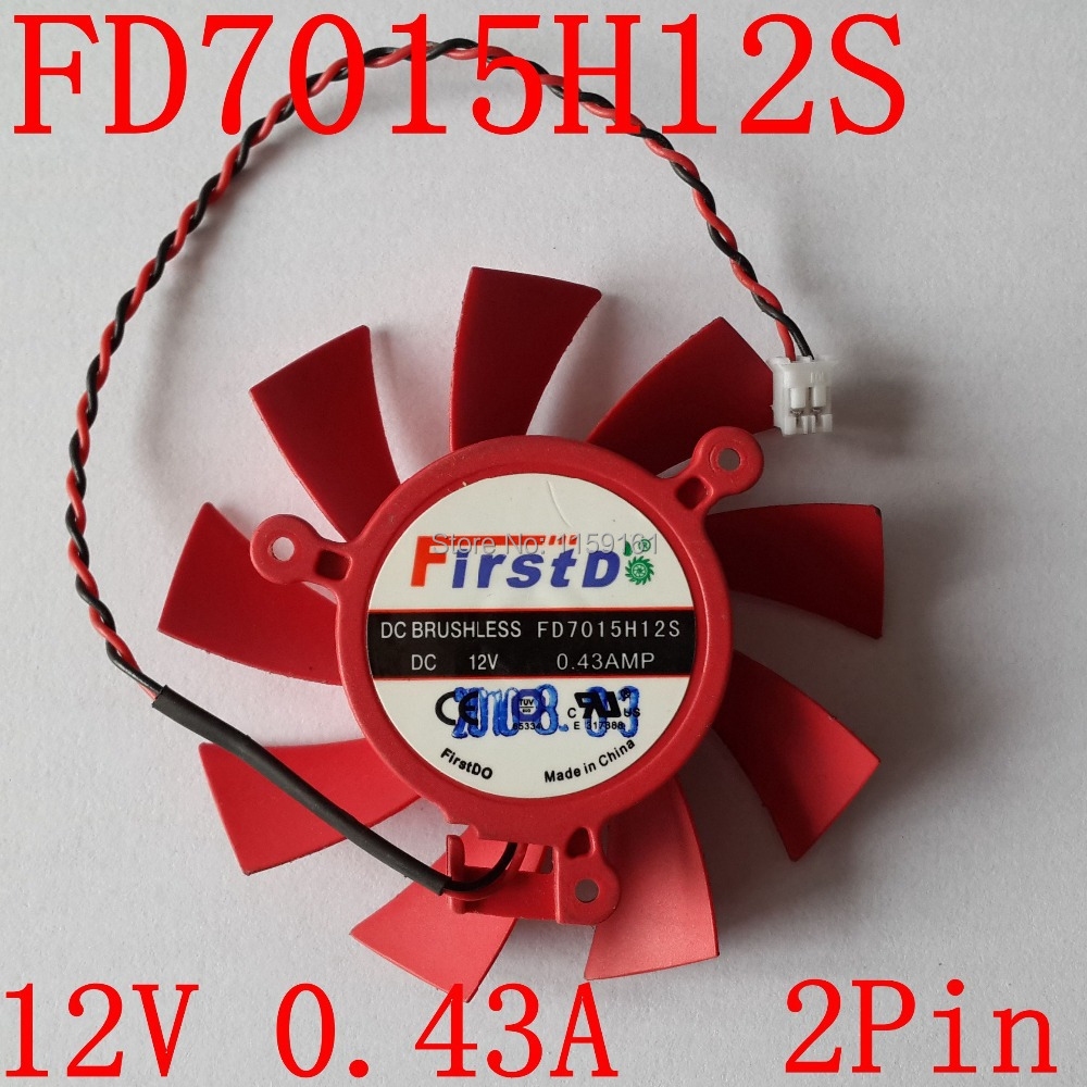65mm DC 12V 0.43AMP 2 Wire Graphics Card Fan Computer Cooler Fans For ASUS HD5770 HD 5770 Video Card cooling