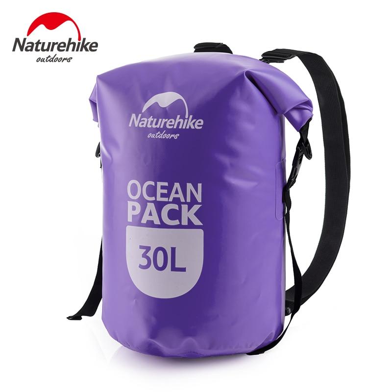 20L 30L βαρέλι σε σχήμα 500D PVC Tarp Trekking παρασύρεται σφραγίδα Rafting τσάντα διπλό ιμάντες Ocean Pack αδιάβροχη τσάντα ξηρή σακούλα εξωτερική