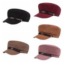 1 шт., зимние шапки, Женская Зимняя кепка шерстяная шапка, Женская Спортивная Кепка на пуговицах, солнцезащитный козырек, шапка, осенняя Кепка для бега s