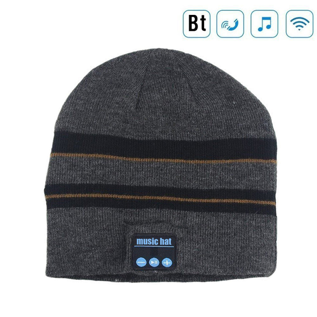 Wireless Bluetooth Beanie Hat Cap with Musicphone Speakerphone Stereo Headphone Headset Earphone Speaker Mic for Fitness Outdoor
