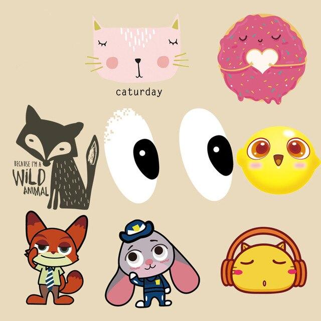 Patrones Animales de dibujos animados Parche Lindo Gato/Perro/Fox ...
