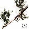 Японский меч катана 1060 стальное лезвие smog тема Сая самурайский стиль tsuba