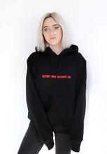 Уничтожить что разрушает вы Модные женские tumblr толстовки Instagram черным капюшоном флис блогер повседневные топы для девочек Кофты