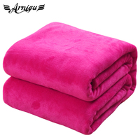 King Size Plaids 230x250cm 12 Different Colors Sofa Air Bedding Thin Throw Solid Color Travel Flannel