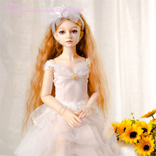 White Princess dress for 1 3 1 4 BJD doll Western style lace dress for female