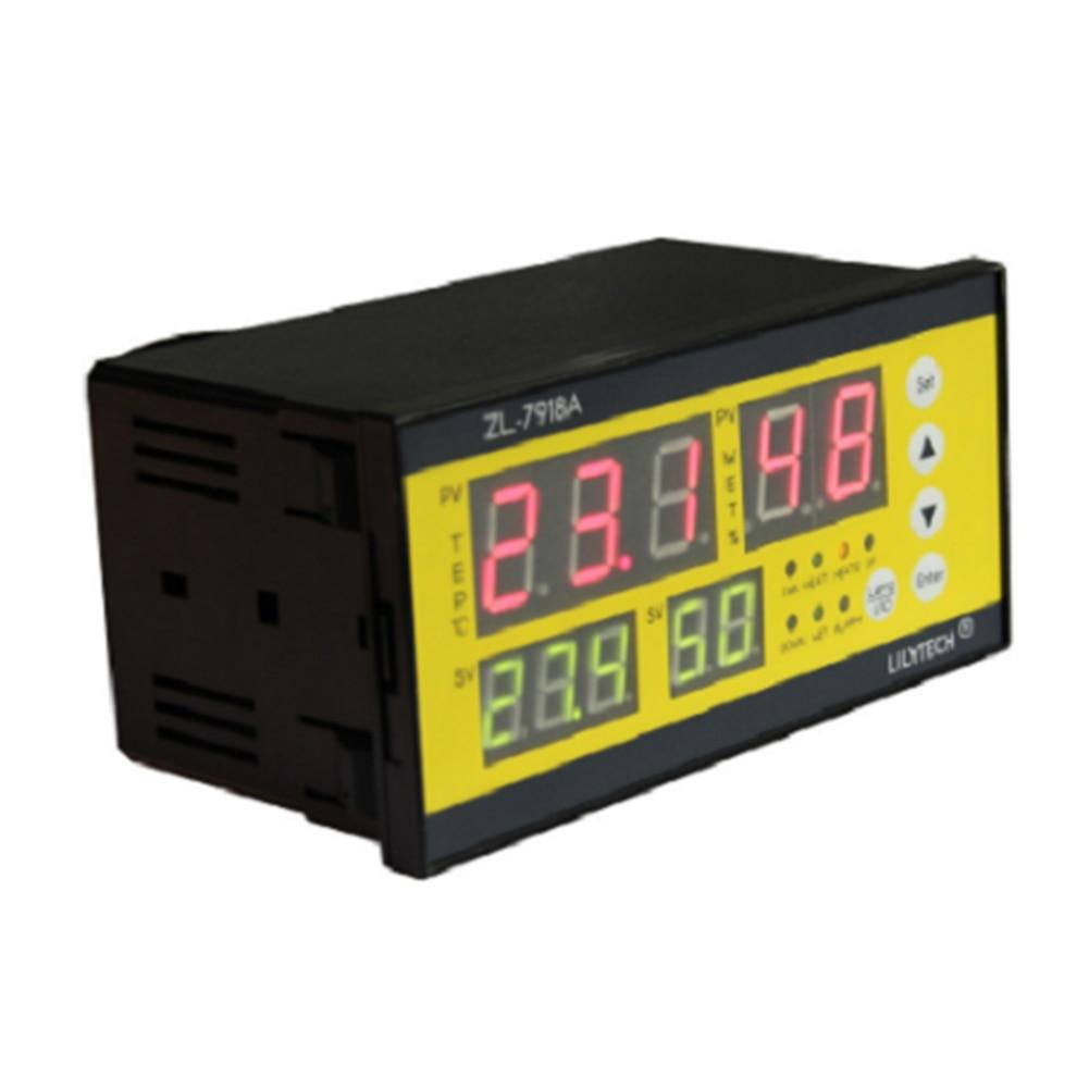 Contrôleur d'incubateur affichage LCD capteur d'humidité de température facile à installer alarme ferme accessoires d'écloserie numérique automatique