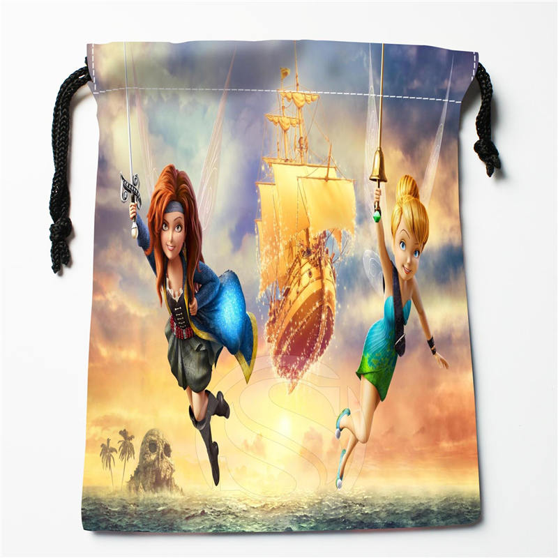 U-31 New Tinker Bell  Custom Logo Printed  Receive Bag  Bag Compression Type Drawstring Bags Size 18X22cm U801!!b31
