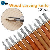 12pcs Woodcut Knife Scorper Wood Carving Tools Woodworking Hobby Arts Crafts Nicking Cutter Graver Scalpel Multi