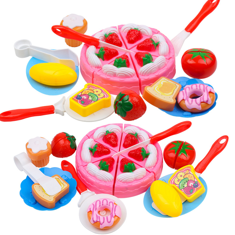 QICSYXJ Birthday Gift Classic Toys Childrens Pretend Play Funny Cutting Games Simultaneous Fruit Cake Set for Girls