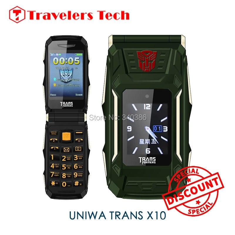 Цена за Двойной Двойной Экран панель телефона TRANS X10 2.8 Дюймов 4800 мАч большой Аккумулятор Power Bank Функция Вибратор Мобильный Телефон PK MAFAM X9
