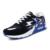 2017 nueva primavera otoño de malla transpirable zapatillas de running hombres marca Vulcanizar entrenador zapatos de moda casual negro azul