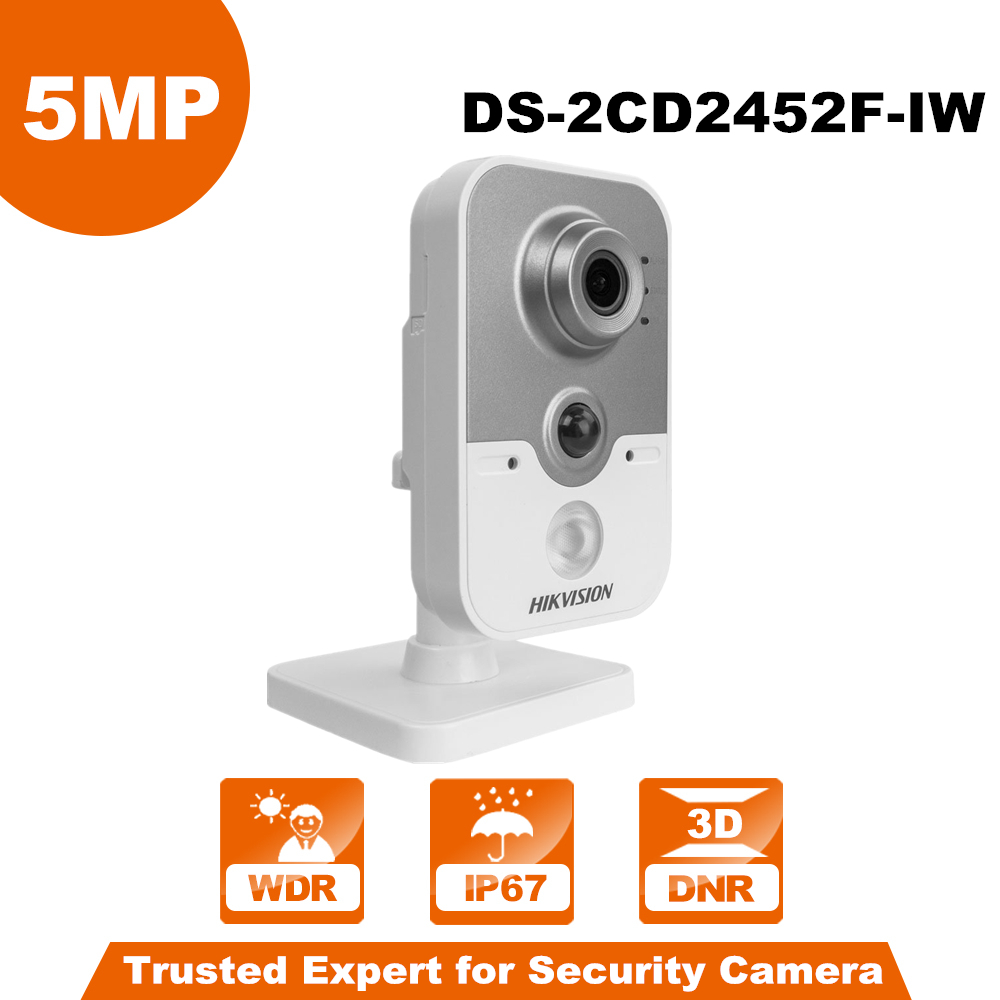 In Stock Hikivision WiFi Camera DS-2CD2452F-IW 5MP IR Cube Wireless IP Camera POE IP Camera Indoor Wi-Fi Camera Built-in Micro стоимость