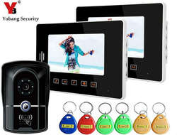 Yobang безопасности 7 дюймов RFID Ночное видение Камера touch ключ домофона Системы ЖК-дисплей двери Мониторы видео-телефон двери Дверные звонки