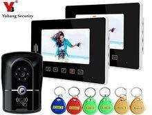 Yobang Security 7 inch RFID Night Vision Camera Touch Key Doorphone System LCD Door Monitor Video Door Phone Doorbell Camera