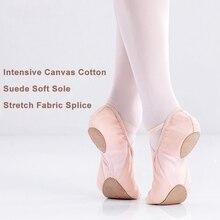 Meninas de alta Qualidade Adulto Ballet Sapatos de Dança de Sola Macia Sapatos Baixos Lona de Algodão Flexível Para A Dança