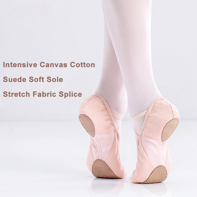 21bbefbb9 High Quality Girls Adult Cotton Canvas Flexible Ballet Dance Shoes ...