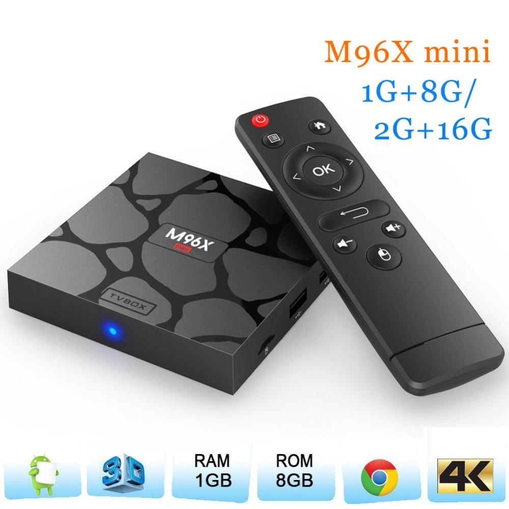 WeChip M96X mini android tv box 1G 8G 2G 16G S905X quad core 6 0