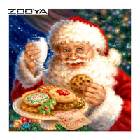ZOOYA Diamond Embroidery Christmas Santa Claus DIY Diamond Painting Pattern Rhinestones Sale Diamond Mosaic Needlework RF1589