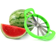 Creative Kitchen Watermelon Slicer Cantaloupe Melon Cutter Knife Stainless Steel Fruit Cutting Slicer Practical Fruits Tools stainless steel watermelon slicer knife fruit cuter