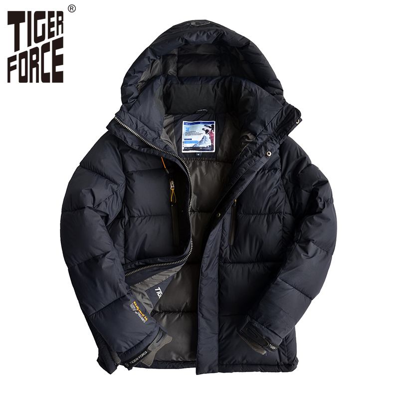 TIGER FORCE Men Padded Jacket Fashion Winter Cotton Polyester Coat Thick Casual Parka With Hood European Size Free Shipping телевизор led 65 samsung qe65q7camux серебристый 3840x2160 wi fi smart tv rs 232c