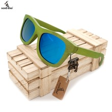 BOBO BIRD New Fashion 2016 Summer Style Bamboo Wooden Sunglasses Womens Mens Polarized UV 400 Protection Eyewear in Box