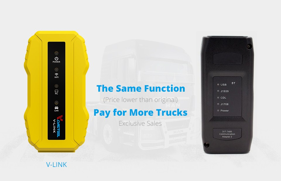 HOT SALE] New Truck Diagnostic Tool Vdiagtool V link for